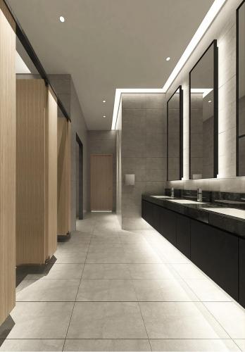Typical Male and Female Washroom